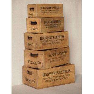 Roucourt Hogwarts Express Solid Wood 5 Piece Organiser Box Set By Brambly Cottage