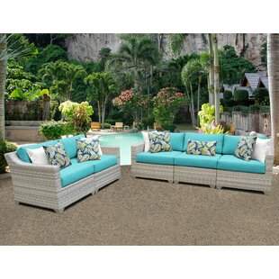 Fairmont 5 Piece Sofa Seating Group With Cushions by TK Classics Fresh