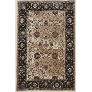 Read Reviews Bluff Canyon Black/Beige Area Rug ByCharlton Home