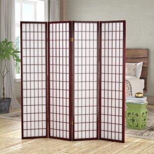 Affordable Vavra 4 Panel Room Divider ByWorld Menagerie