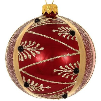 The Holiday Aisle Burgundy Ball Ornament
