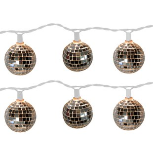 Great choice Disco Ball 10 Light Globe String Light By The Holiday Aisle