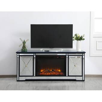 Fireside Lodge Tv Stand For Tvs Up To 75 With Electric Fireplace Included Reviews Wayfair