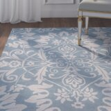 Doss Hand-Tufted Light Blue Area Rug by Willa Arlo Interiors