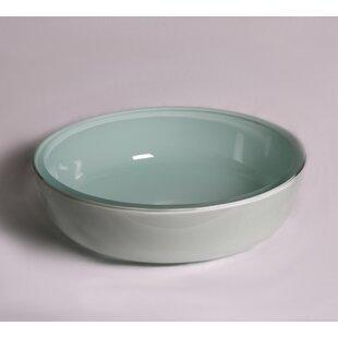 Legion Furniture Tempered Glass Circular Vessel Bathroom Sink