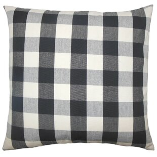 Nelson Plaid Cotton Throw Pillow