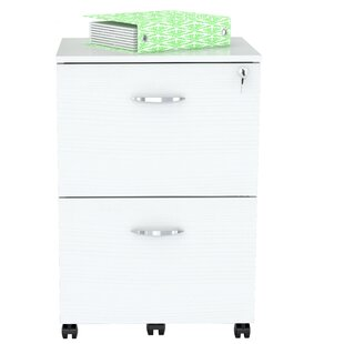 Fraizer Solid Composite Wood 1-Drawer Mobile Vertical Filing Cabinet