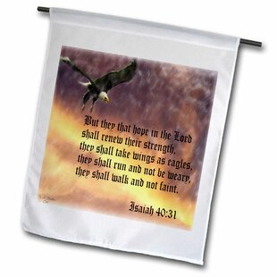 05899a07b69d Isaiah 40-31 Bible Verse with Eagle Against a Troubled Sky Polyester 2 3