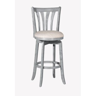 Marquita 30'' Swivel Bar Stool Highland Dunes