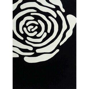 Deals Whipple Transitional Hand-Tufted Black/White Area Rug ByLatitude Run