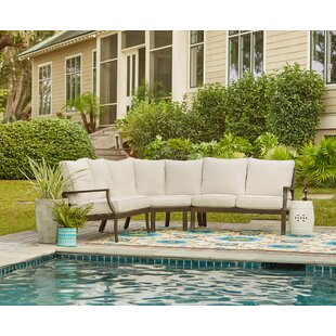 Birch Lane™ Endicott Patio Sectional with Sunbrella Cushions