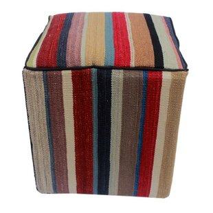 Winston Porter Harwinton Kilim Cube Ottoman