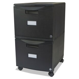 2-Drawer Mobile Vertical Filing Cabinet by Storex