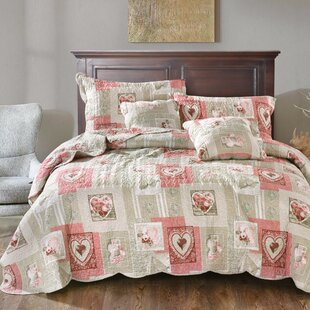 Belinda Sweetheart Cottage Patchwork Quilt Set