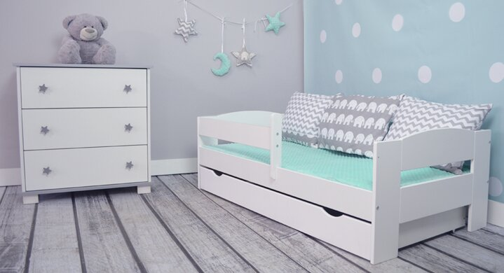 m bel concept kinderbett elena mit matratze und schublade 80 x 160 cm bewertungen. Black Bedroom Furniture Sets. Home Design Ideas