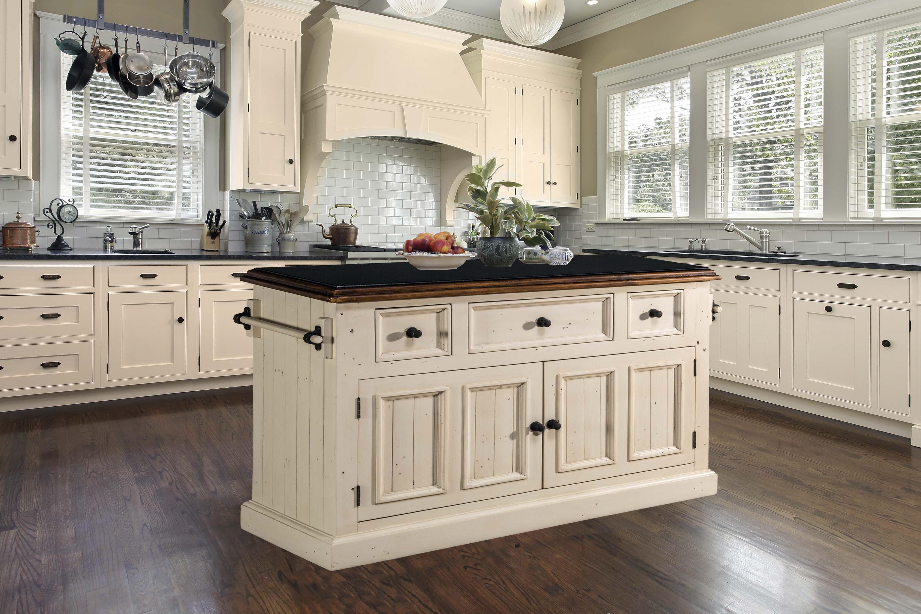 Birch Lane Harris Kitchen Island With Granite Top Reviews Wayfair