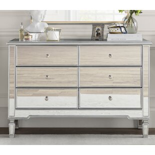 Rosdorf Park Orpha 6 Drawer Double Dresser