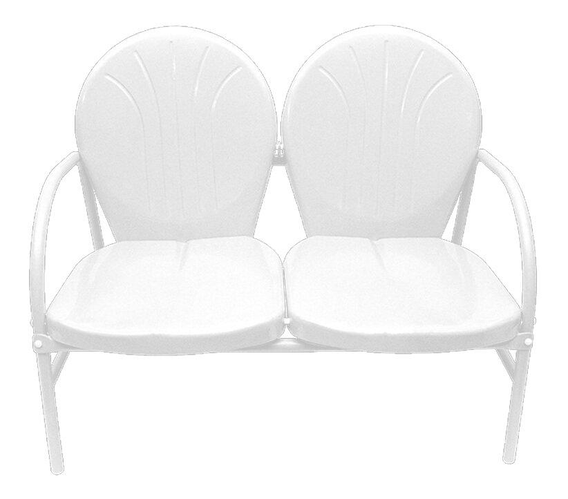 Northlight Retro Metal 2 Seat Double Chair U0026 Reviews | Wayfair