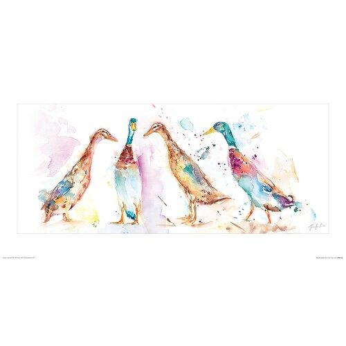 Runner Ducks by Jennifer Rose - Unframed Painting Print on P