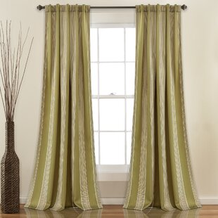 Green Striped Curtains Drapes Youll Love