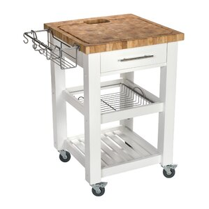 Pro Chef Kitchen Cart with Butcher Block Top by Chris & Chris