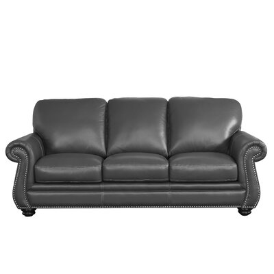 Grey Leather Sofas You Ll Love In 2019 Wayfair