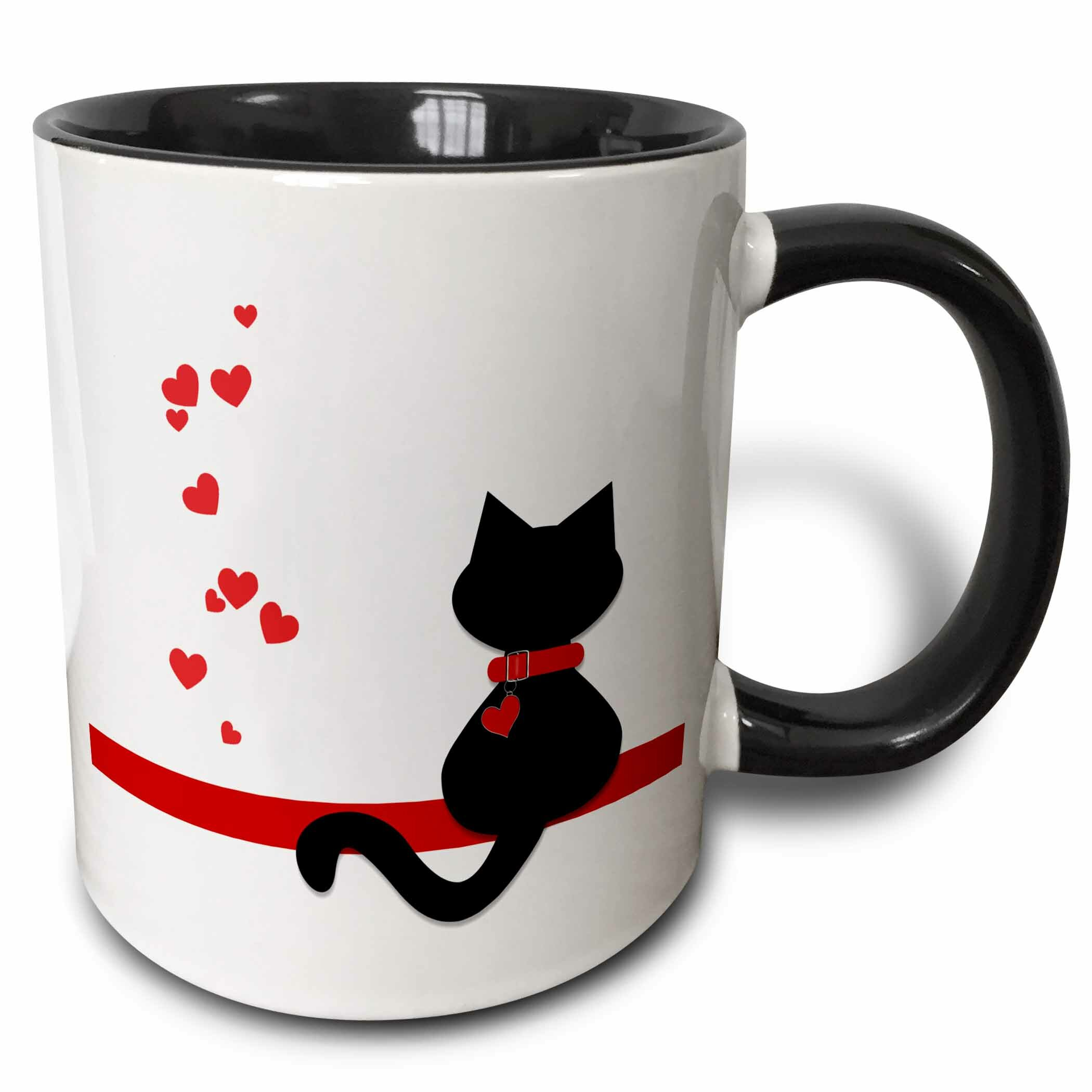 East Urban Home Pet Lovers Hearts Kitty Cat Coffee Mug Reviews Wayfair