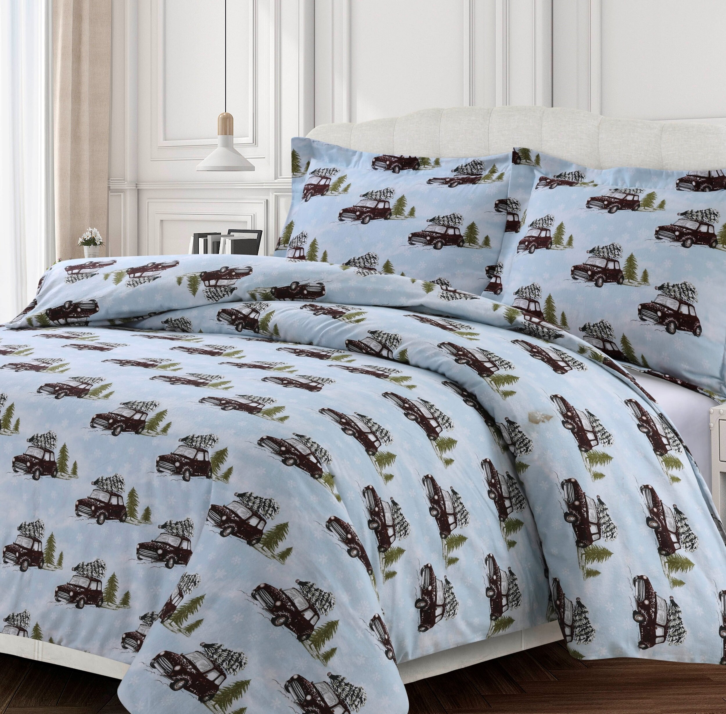 The Holiday Aisle Flint Oversized Duvet Cover Set Wayfair