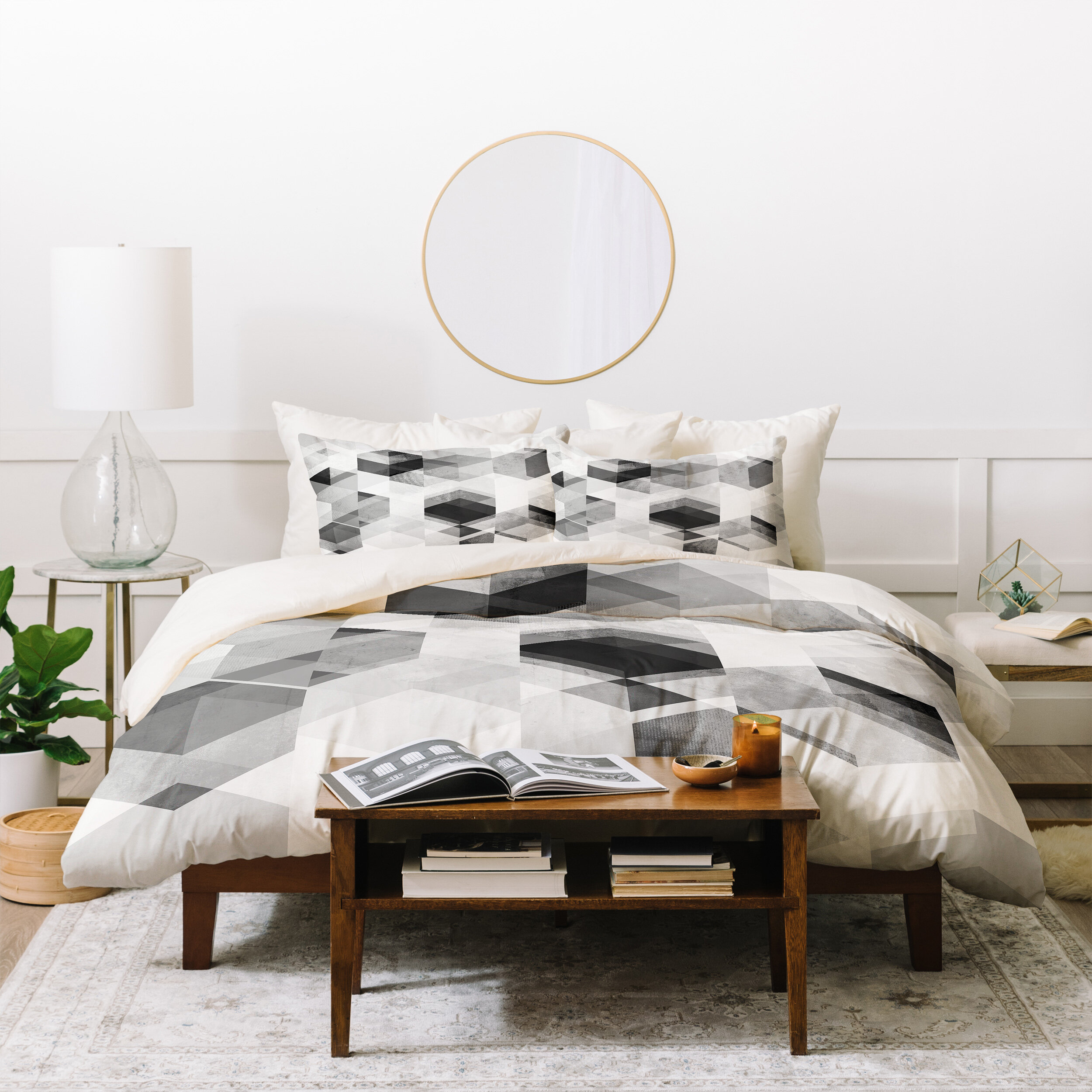 5 PC Luxury Soft Chelsea Duvet Cover Set 100/% Cotton Superior Single ply Woven