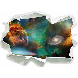 Galaxy With Stardust Wall Sticker By East Urban Home