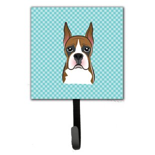 Checkerboard Boxer Leash Leash Holder and Wall Hook
