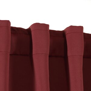 Solid Blackout Tab top Single Curtain Panel (Set of 2)