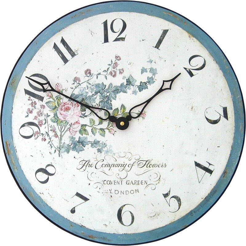 Lily Manor Boudreau 36cm Climbing Rose Wall Clock Reviews Wayfair Co Uk