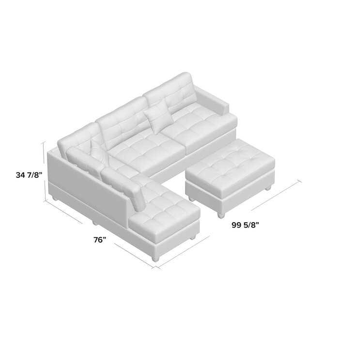 Awe Inspiring Giuliana Reversible Sectional With Ottoman Onthecornerstone Fun Painted Chair Ideas Images Onthecornerstoneorg