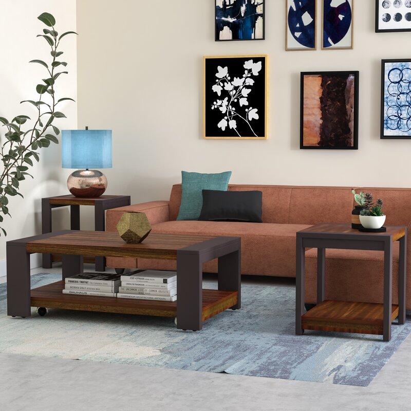 Brayden Studio Hayley 3 Piece Coffee Table Set & Reviews | Wayfair