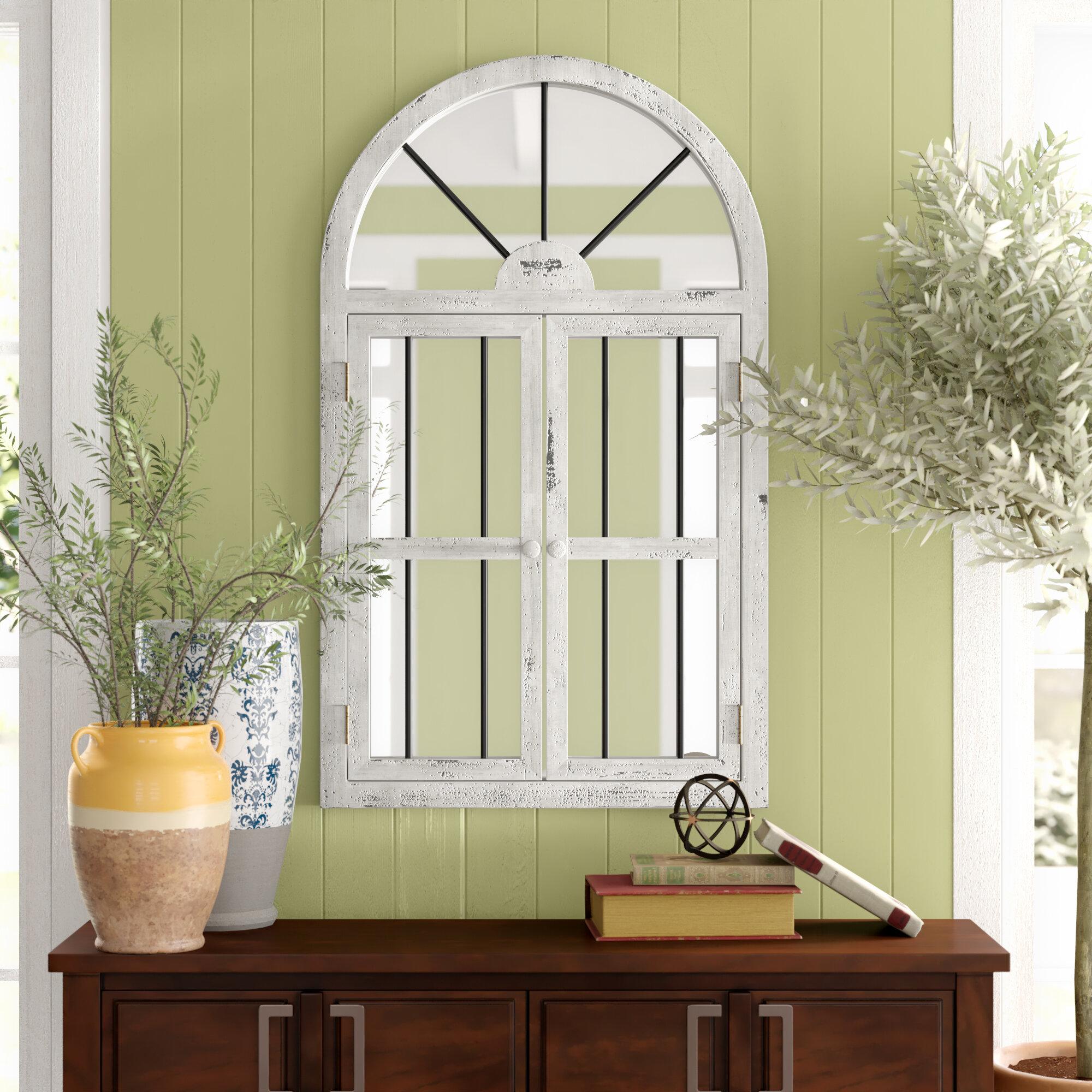 Reynolds Window Wood Wall Mirror Reviews Birch Lane