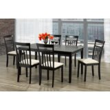 Aeian 7 - Piece Solid Wood Dining Set by Red Barrel Studio®