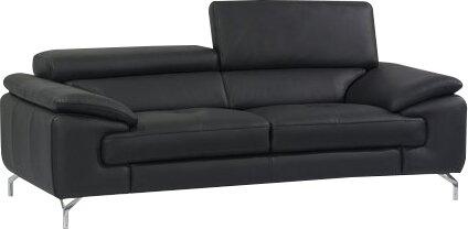 Wade Logan Twining Italian Leather Sofa & Reviews   Wayfair