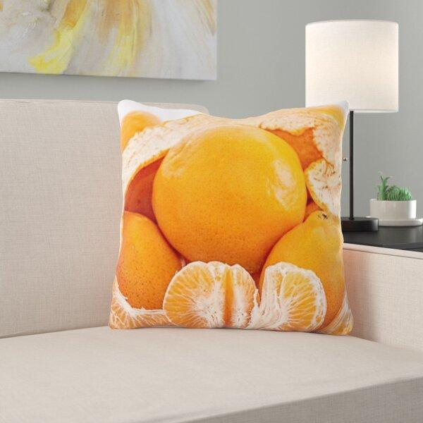 Tangerine Throw Pillow Wayfair