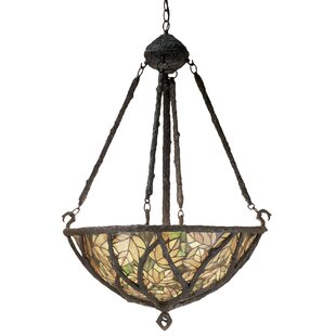 Meyda Tiffany Branches 3-Light Bowl Pendant
