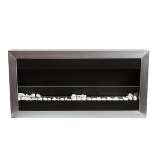Square Large II Stainless Steel Ventless Wall Mounted Bio-Ethanol Fireplace by Bio-Blaze