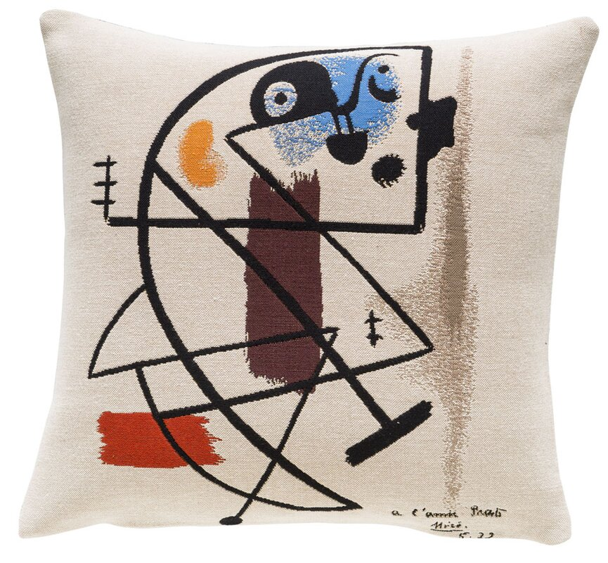 Peinture 1931 Throw Pillow - Shop Drew's Honeymoon House {Guest Bedrooms} #1931 #artdeco #Picasso #PropertyBrothers