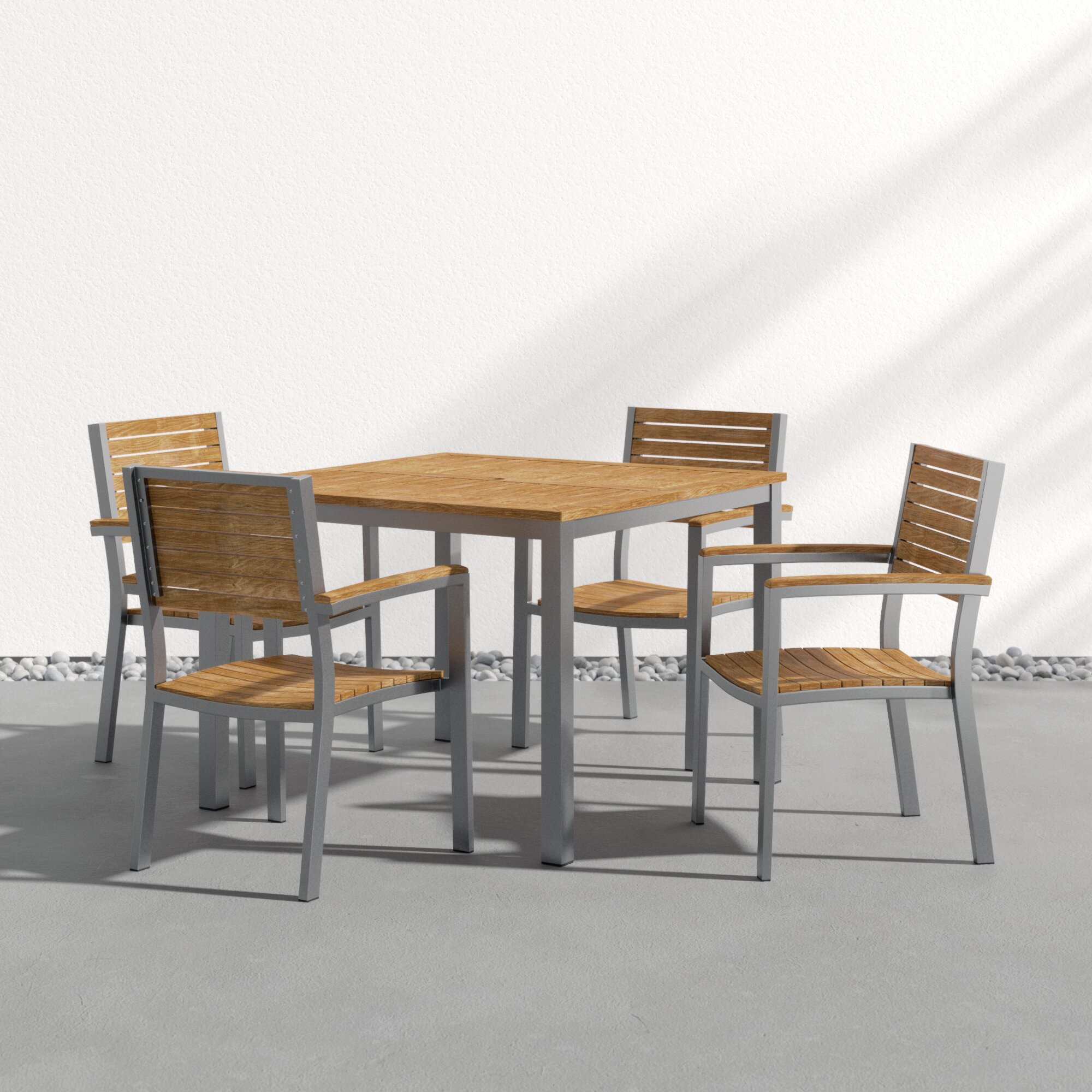Sol 72 Outdoor Caspian 5 Piece Dining Set Reviews Wayfair
