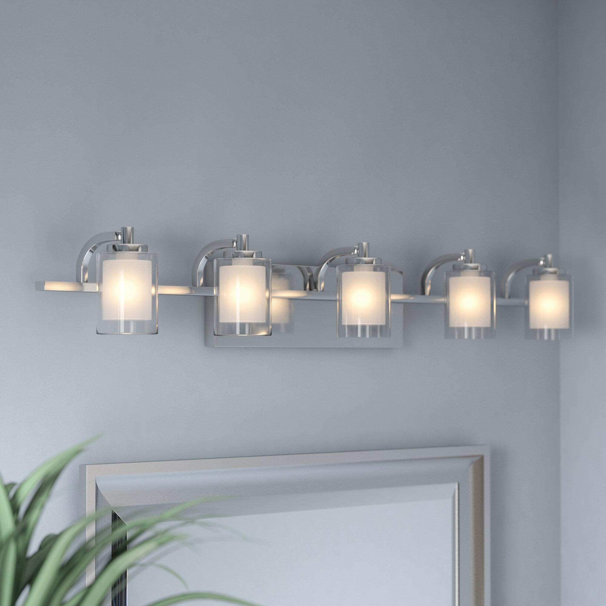 Vanity lighting design Fixtures Wayfair Wade Logan Aldrich 5light Vanity Light Reviews Wayfair