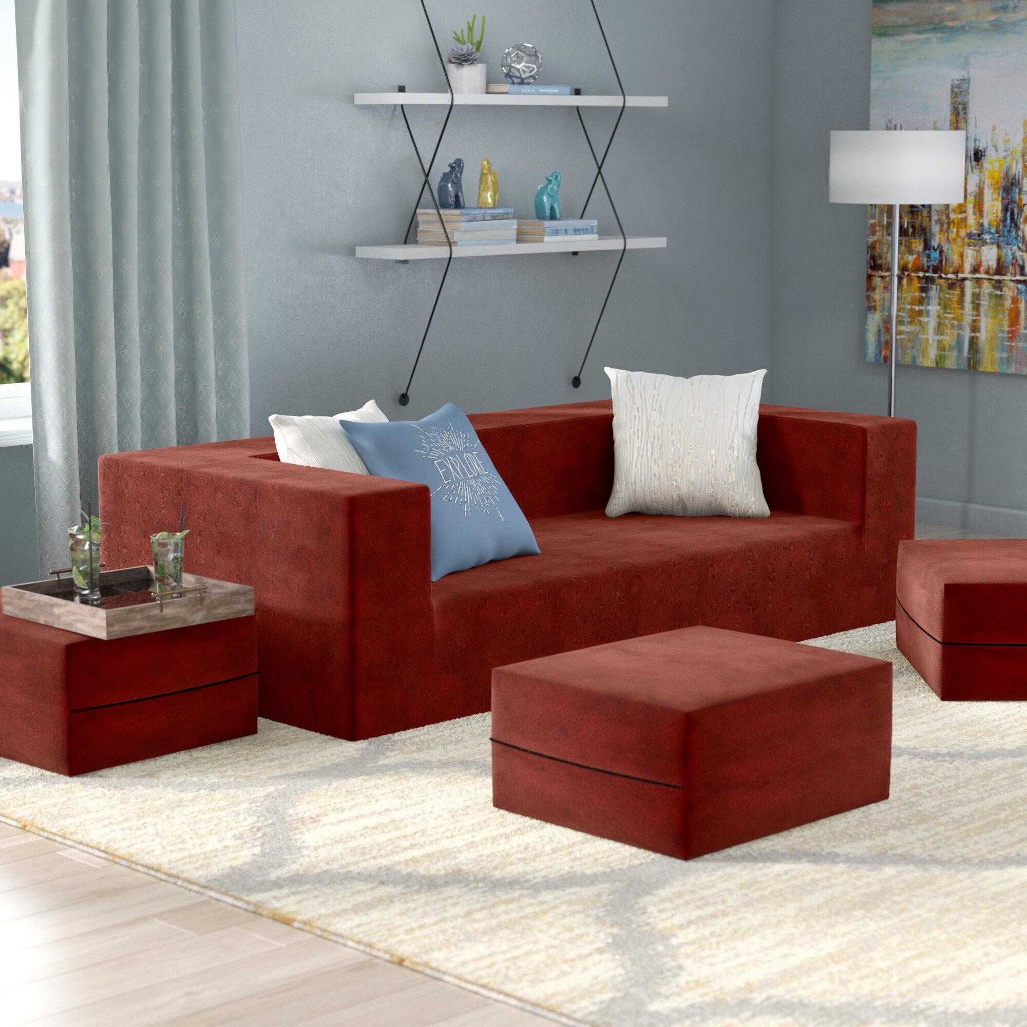 Zipcode Design Eugene Modular Sleeper Sofa With Ottomans Reviews