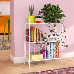 Dondale 3 Tier Wide Folding Etagere Bookcase Zipcode Design