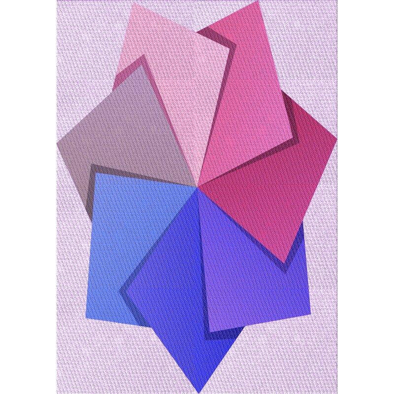 East Urban Home Geometric Wool Purple Pink Blue Area Rug Wayfair