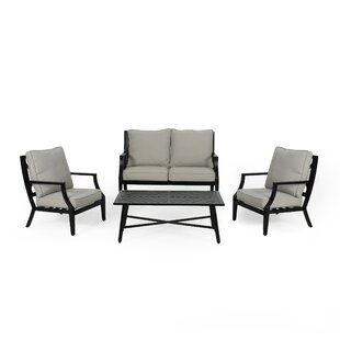 Sweet Outdoor 4 Piece Sofa Seating Group with Cushions