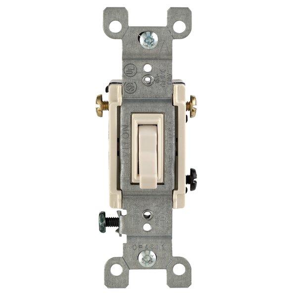Leviton 15 Amp Single Pole Toggle Light Switch Reviews Wayfair