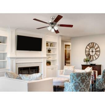 Hunter Fan 52 Sentinel 3 Blade Standard Ceiling Fan With Remote Control And Light Kit Included Reviews Wayfair